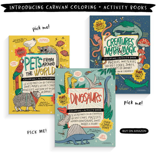 Introducing Caravan Coloring + Activity Books
