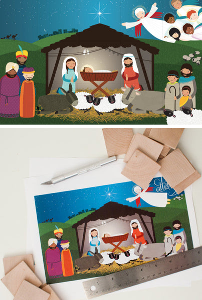 Alleluia! A DIY Nativity Puzzle