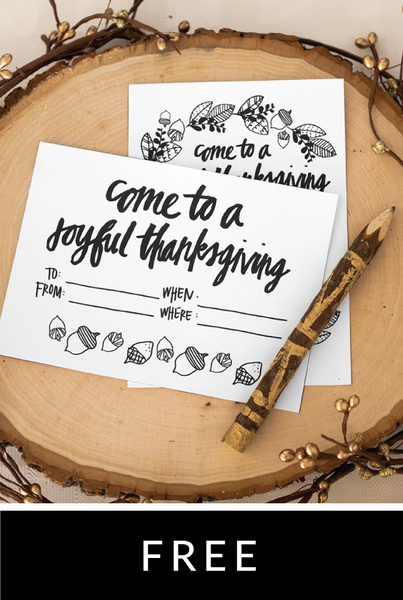 Woodland Thanksgiving Invitation