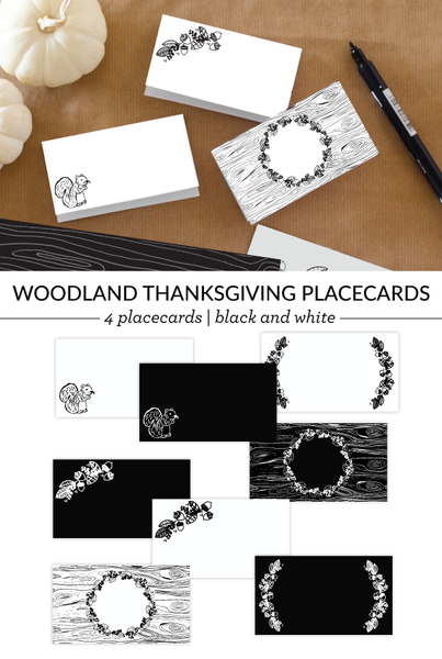 Woodland Name Cards