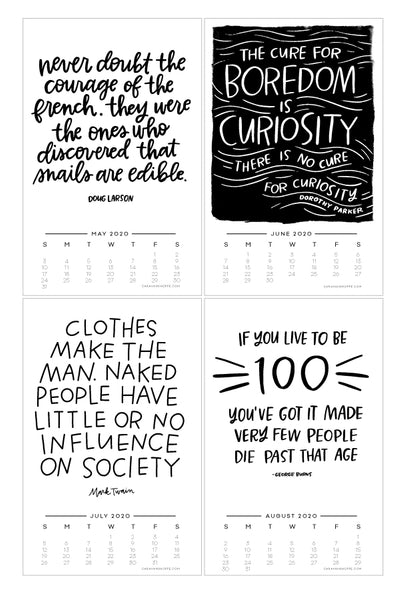 Quotes to Live By — 2020 Calendar