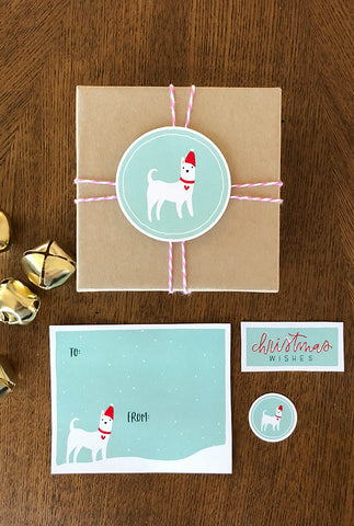Doggie Christmas Tags
