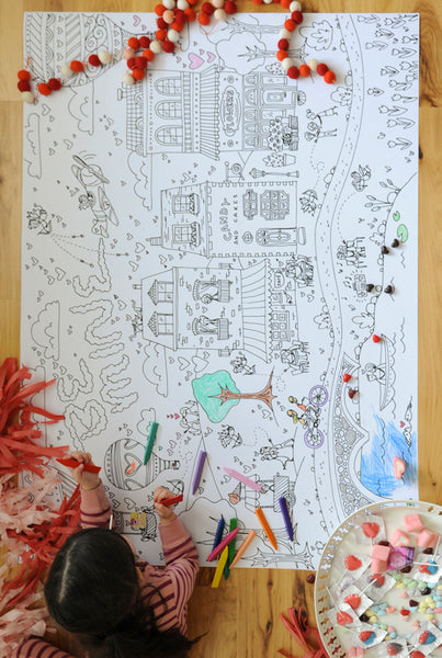 GIANT Valentine's Day Coloring Poster