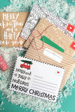 Merry Happy Printable Envelopes