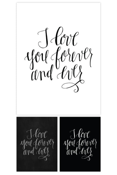 Love you ever and forever