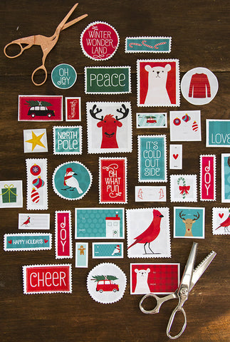 Retro Holiday Layering Tags
