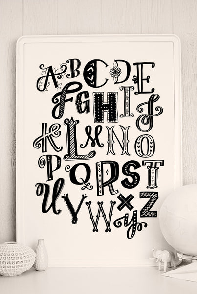 photograph about Printable Poster Letters named Get pleasure from Letters Printable Poster Caravan Shoppe