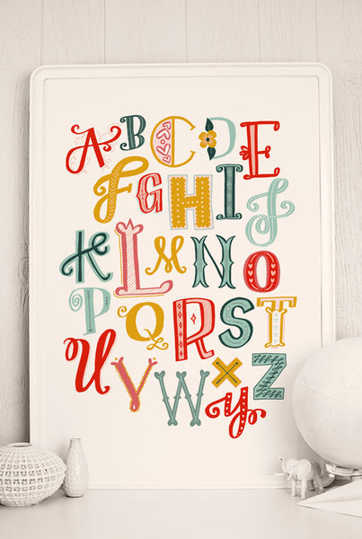 graphic about Printable Poster Letters called Get pleasure from Letters Printable Poster Caravan Shoppe