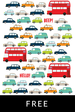 London Traffic Notecard