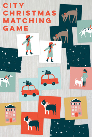 City Christmas Matching Game