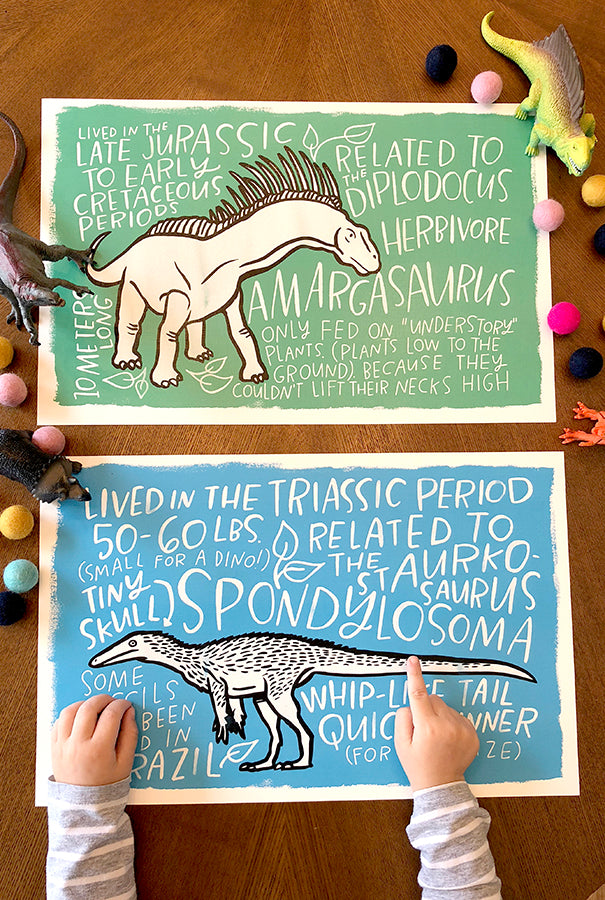 Fun Fact Placemats: Advanced Dinosaurs
