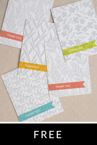 Mod Botanical Thank You Card