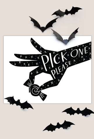 Pick One Halloween Sign
