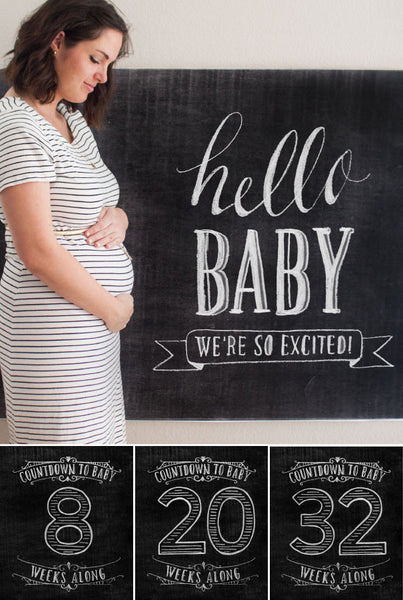 Pregnancy Chalk Countdown Pack