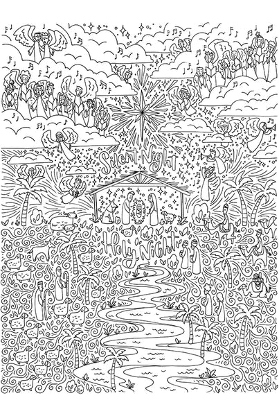 GIANT Nativity Coloring Poster
