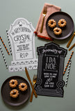 Dead Man's Party Tombstone Placemats