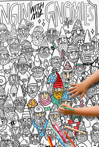 Hangin' with my GNOMIES Coloring Poster