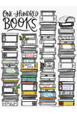 100 Books Giant Coloring Poster
