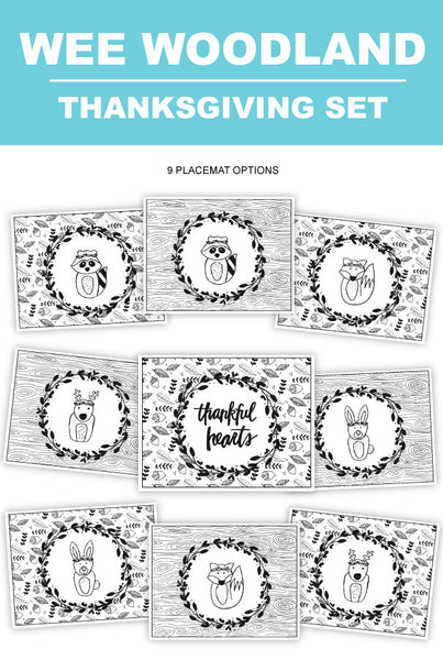 Wee Woodland Thanksgiving Set