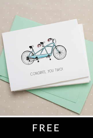 Bicycle Notecard