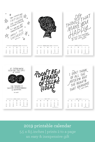 Quotes to Live By — 2019 Calendar