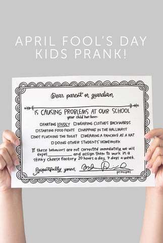 April Fool's Day School Certificate