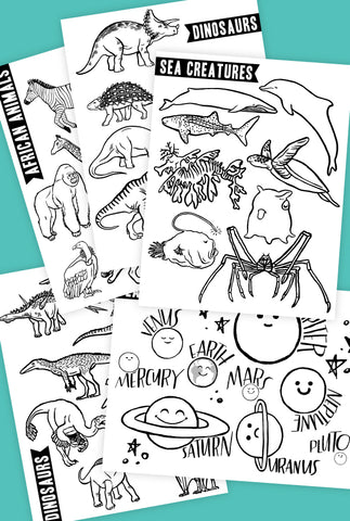 Placemat Coloring Pages