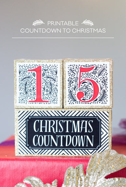 Christmas Countdown Blocks