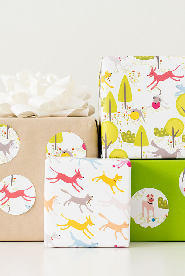 Dog Days Wrapping Paper