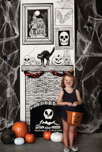 Draw Together Halloween Fireplace
