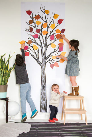Draw Together Thankful Tree