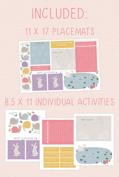Easter Placemats and Activities