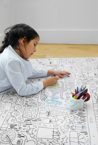 GIANT Christmas Coloring Poster