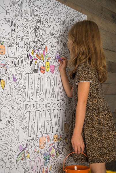 GIANT Halloween Coloring Poster