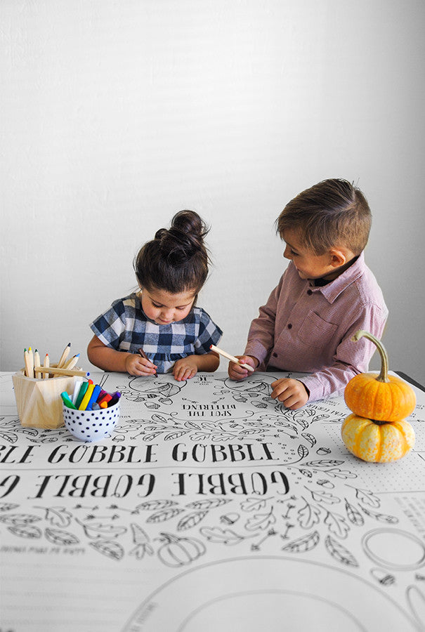 Thanksgiving Kids' Table Cover