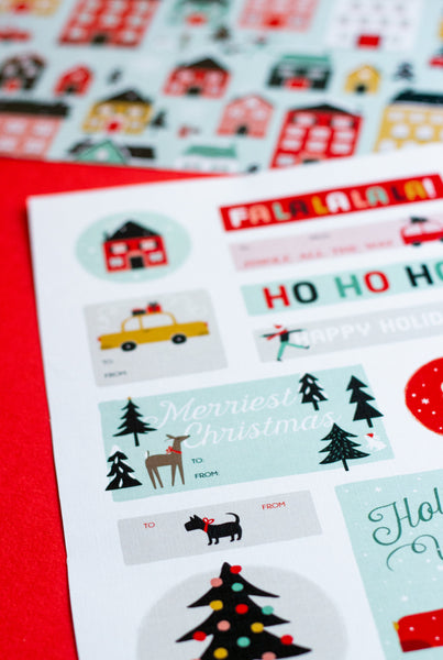 Christmas in the City Gift Tags + Wrapping Paper