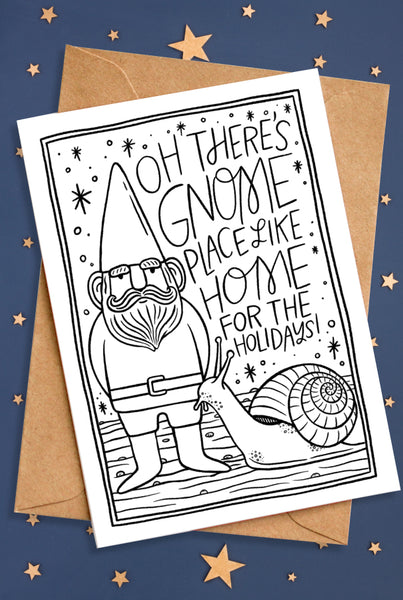 Gnome Holiday Card
