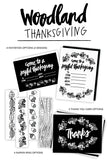 Woodland Thanksgiving Set