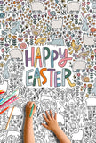 Happy Easter Giant Coloring Poster
