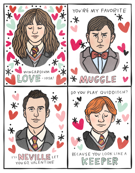 I {heart} Harry Potter Printable Valentines
