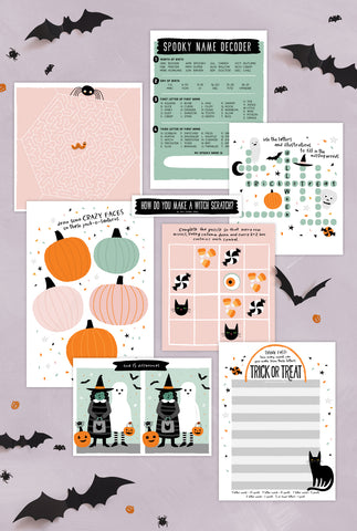 Fun Halloween Placemats and Activities