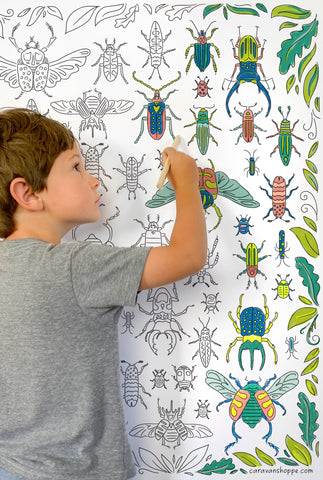 Friendly Beetles Giant Coloring Poster