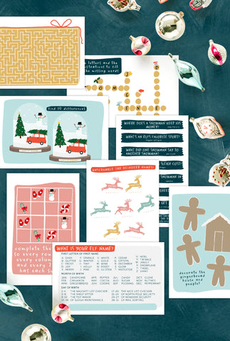 Fun Christmas Placemats and Activities