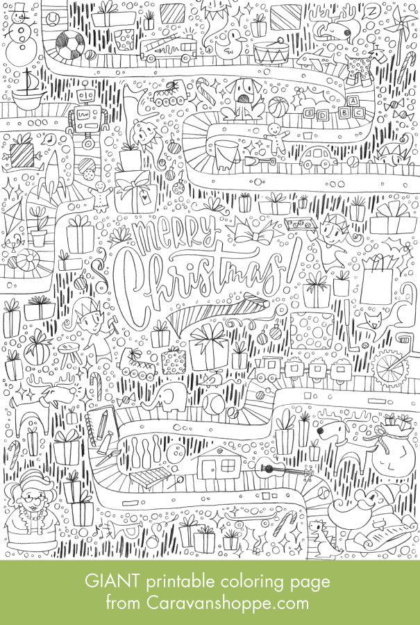 GIANT Christmas Coloring Poster | Caravan Shoppe