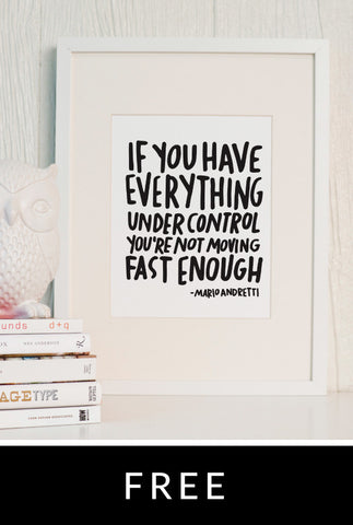 Move Fast Printable Quote