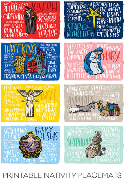 Fun Fact Placemats: Nativity