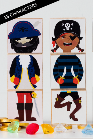 DETAILS All blocks on deck! This special edition Olliblocks Pirates set ... click for more information