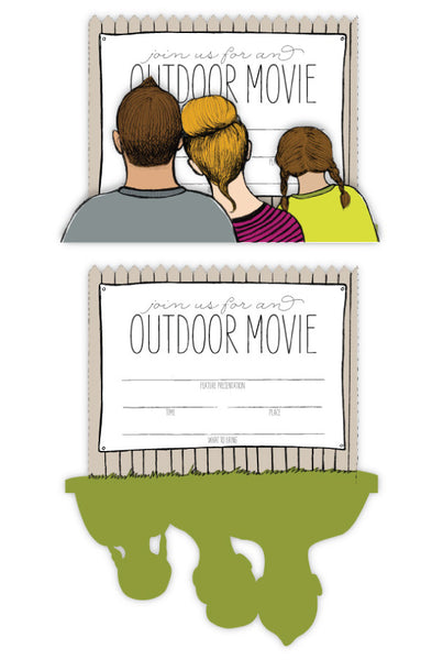 Outdoor Movie Invitation