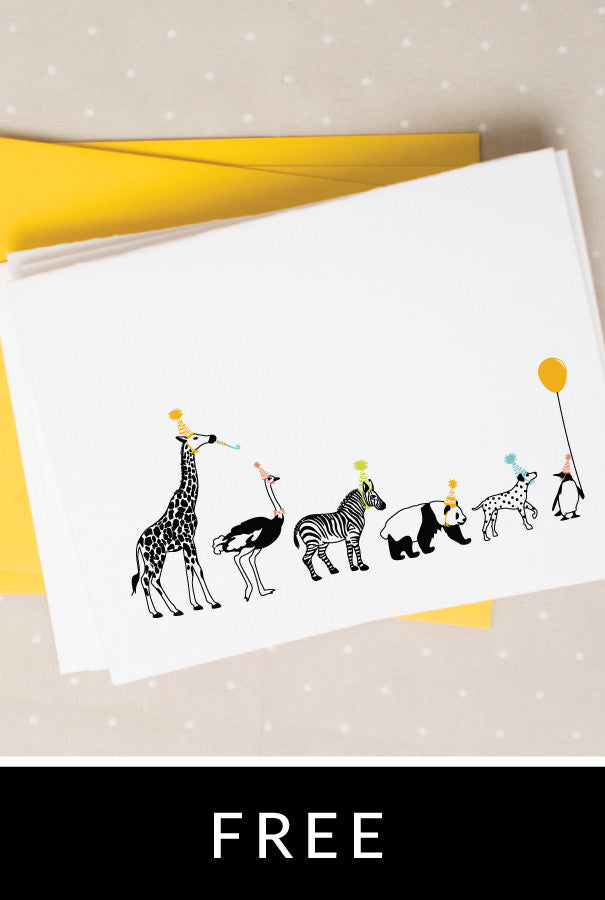 Party Animals Notecards Caravan Shoppe