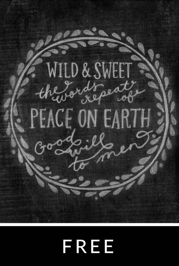 Peace On Earth Chalk Print